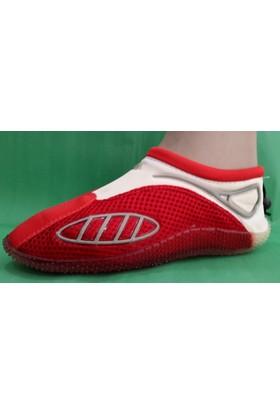 Ahs Deniz Ayakkabısı ( Kırmızı - Beyaz )
