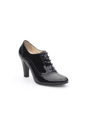 Pedro Camıno Bayan Klasik Ayakkabı 80510 Siyah Rugan