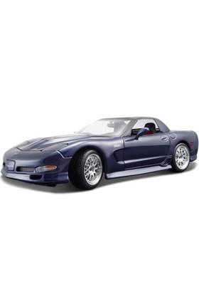 Maisto Chevrolet Corvette 2001 1:18 Model Araba S/E Lacivert