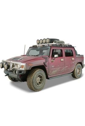 Maisto Hummer H2 Sut Concept 1:18 Model Araba Dirt Riders Kırmızı
