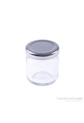 Kullanatmarket Gümüş Mini Cam Kavanoz 5 Adet