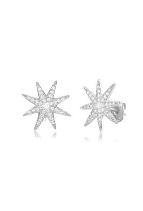 Coşar Silver Kuzey Yıldızlı Gümüş Küpe CZ-EAR0263-2