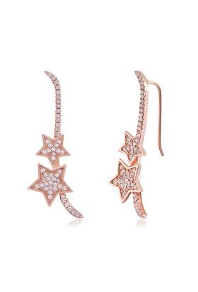 Coşar Silver Yıldızlı Uzun Gümüş Küpe CZ-EAR0713