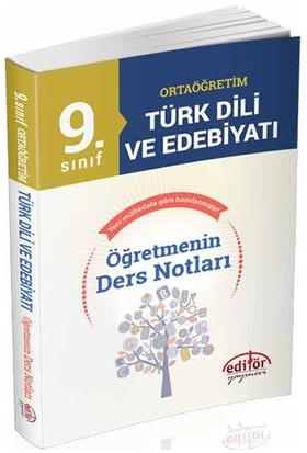Editör Yayınları 9.Sınıf Türk Dili Ve Edebiyatı Öğretmenin Ders Notları