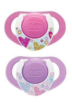 Chicco Physio Compact Kauçuk Emzk Kız 12 ay+ 2Li
