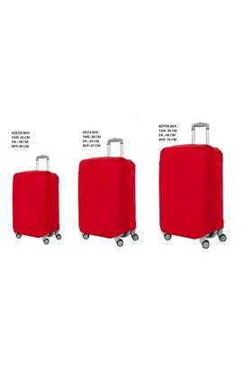 Vk Tasarım Valiz Kılıfı 3 lü Set Kırmızı