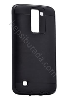 Case 4U LG K8 Korumalı Kapak Siyah