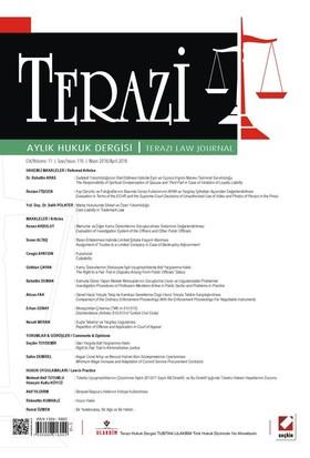 Terazi Aylık Hukuk Dergisi (Sayı: 116)