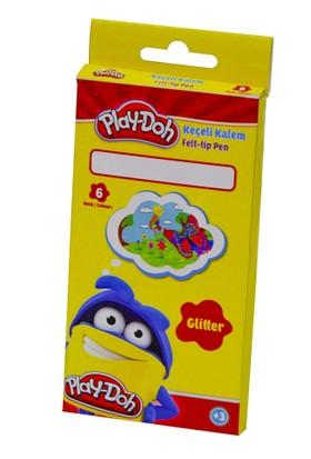 Play-Doh 6 Renk Simli Keçeli Kalem PLAY-KE015