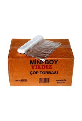 İlktem Mini Boy Çöp Poşeti 40*50 Şeffaf-Koli
