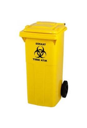 Arslan Plastik Tıbbi Atık Çöp Konteyneri 120 Lt- Sarı