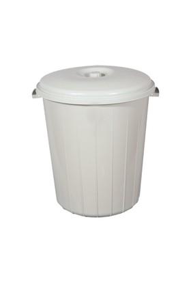 Bahat Çöp Kovası Kapaklı Plastik 70 Lt Gri
