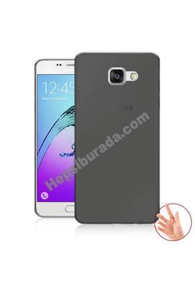 Teknomeg Samsung Galaxy A7 2016 Füme Silikon Kılıf