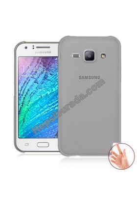 Teknomeg Samsung Galaxy J1 Ace Füme Silikon Kılıf