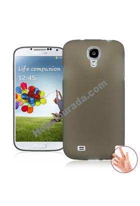 Teknomeg Samsung Galaxy S4 Füme Silikon Kılıf