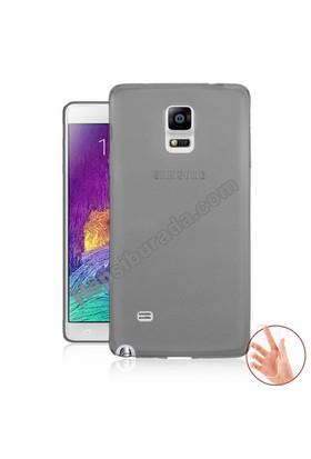 Teknomeg Samsung Galaxy Note 4 Füme Silikon Kılıf
