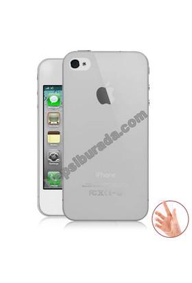 Teknomeg Apple İphone 4 Şeffaf Silikon Kılıf