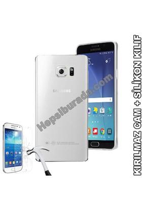 Teknomeg Samsung Galaxy Note 5 Şeffaf Silikon Kılıf + Temperli Cam