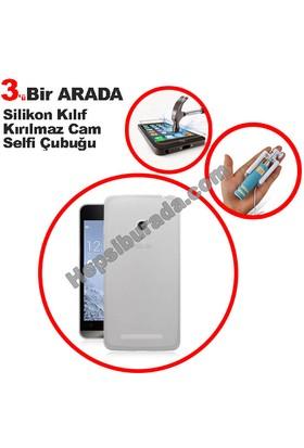 Teknomeg Asus Zenfone 5 Lite Şeffaf Silikon Kılıf + Temperli + Selfie