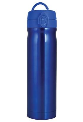 Çelik İçli Matara 500ml Neon Mavi