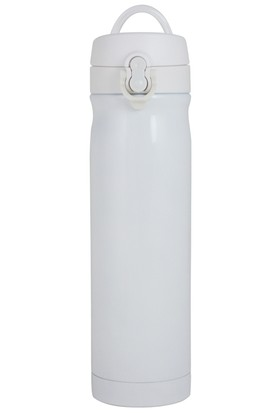 Çelik İçli Matara 500ml Beyaz