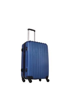 Ground Büyük Boy Valiz 4 Tekerlekli Bavul Lacivert 10522