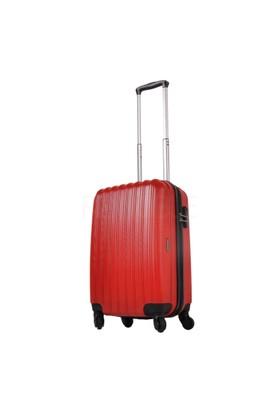 Ground Kabin Boy Valiz 4 Tekerlekli Bavul Kırmızı 10522