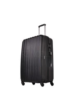 Ground Büyük Boy Valiz 4 Tekerlekli Bavul Siyah 10522