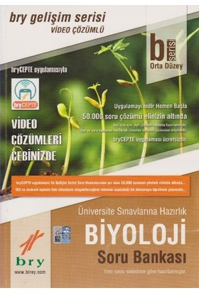 Birey Eğitim Yayıncılık B Serisi Orta Düzey Biyoloji Soru Bankası - Video Çözümlü
