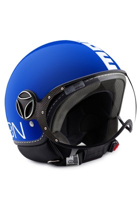 Momo Design Fgtr Classic Kobalt Mavi, Beyaz Logo Medium Kask