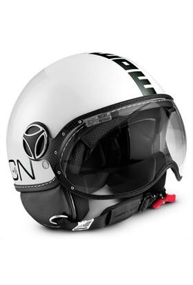 Momo Design Fgtr Classic Parlak Beyaz, Siyah Logo X Small Kask