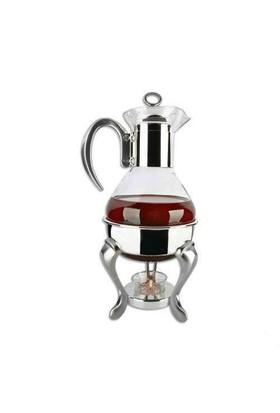 Çerçi Cam Çay Isıtıcı Mumlu Çaydanlık