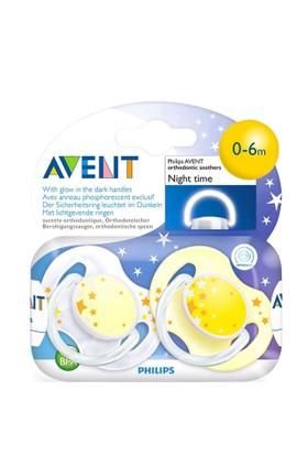 Philips Avent Avent Ortodontik 2'Li Gece Emziği Sarı