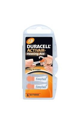 Duracell Actıvaır-13 1.45 V 6Lı İşitme Cihaz Pili