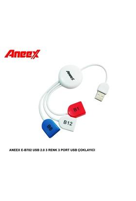 Aneex E-B702 Usb 2.0 3 Renk 3 Port Usb Çoklayıcı