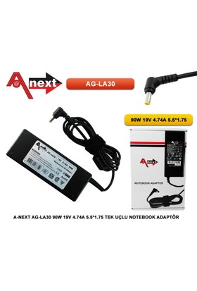 Techas Ag-La30 90W 19V 4.74A 5.5*1.75 Tek Uçlu Notebook Adaptör Acer