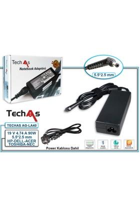 Techas Ag-La40 90W 19V 4.74A 5.5*2.5 Tek Uçlu Notebook Adaptör Asus/Acer