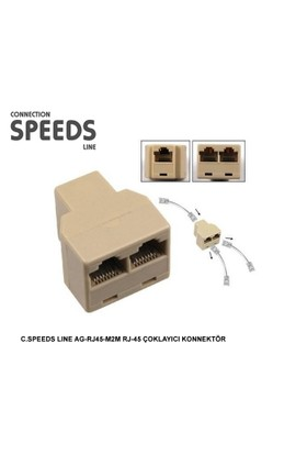 C.Speeds Lıne Ag-Rj45-M2M Rj-45 Çoklayıcı Konnektör