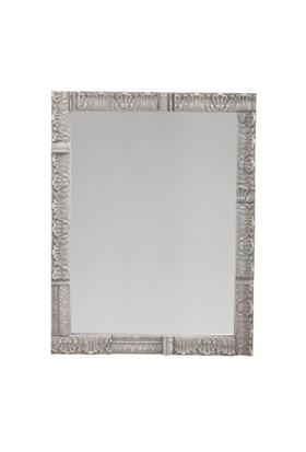 Antik Gri Ahşap Çerçeveli Ayna