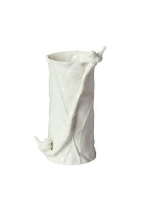 Beyaz Heykel Porselen Vazo