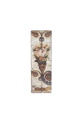 Köknar Ağacından Eskitme Floral Duvar Panosu