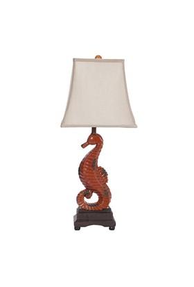 Seramik Denizatı Figürlü Masa Lambası