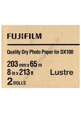 Fujifilm DX100 InkJet Fotoğraf Kağıdı Lustre - 8'' x 213' - 2 Rulo