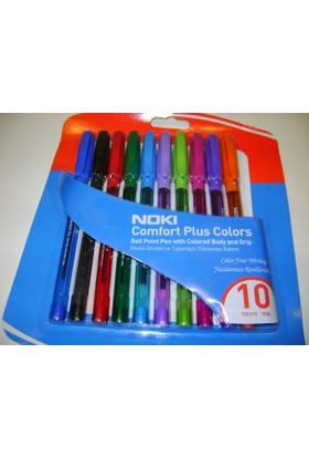 Noki Renki Tutamaçlı Tükenmez Kalem 10 Lu