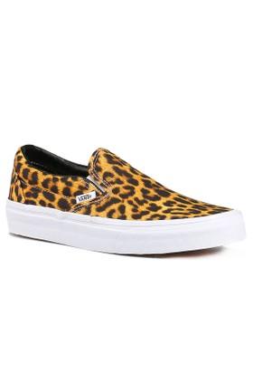Vans Classıc Slip-On Leopar Siyah Beyaz Unisex Sneaker Ayakkabı
