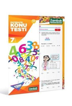 Zambak 7.Sınıf Matematik Konu Testi ( Yeni Müfradat )