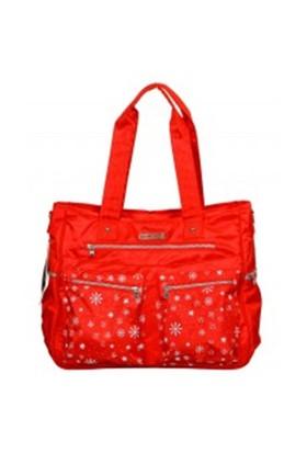 Lullaby 259 Gusto Baskılı Çanta Kırmızı