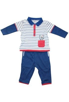 İdil Baby 5510 Erkek 3'Li Takım Mavi