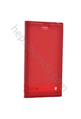 Case 4U Samsung Galaxy Note FE / Note 7 Gizli Mıknatıslı Kapaklı Kılıf Kırmızı