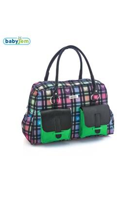 Babyjem Desenli Bebek Bakım Çantası / Siyah